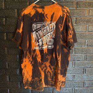Vintage Moonshiners whiskey reverse tie-dye Tee 2X